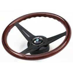 Nardi Deep Corn Steering Wheel - Wood with Black Spokes