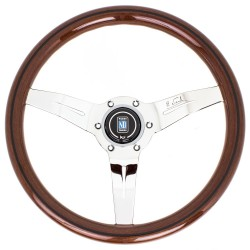Nardi Deep Corn Steering Wheel - Wood with Polished Spokes
