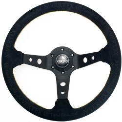T&E Vertex JDM Steering Wheel - King of Vertex Wildleder