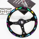 T&E Vertex JDM Steering Wheel - Leopard Ring