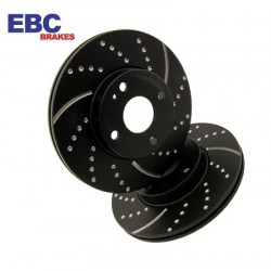 EBC Turbo Groove Black Brake Discs Rear