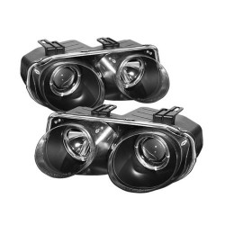 Integra DC2 98-01 Black Headlights LHD