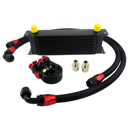 Universal Thermostat Oil Cooler Kit AN10 13 to 30 Row
