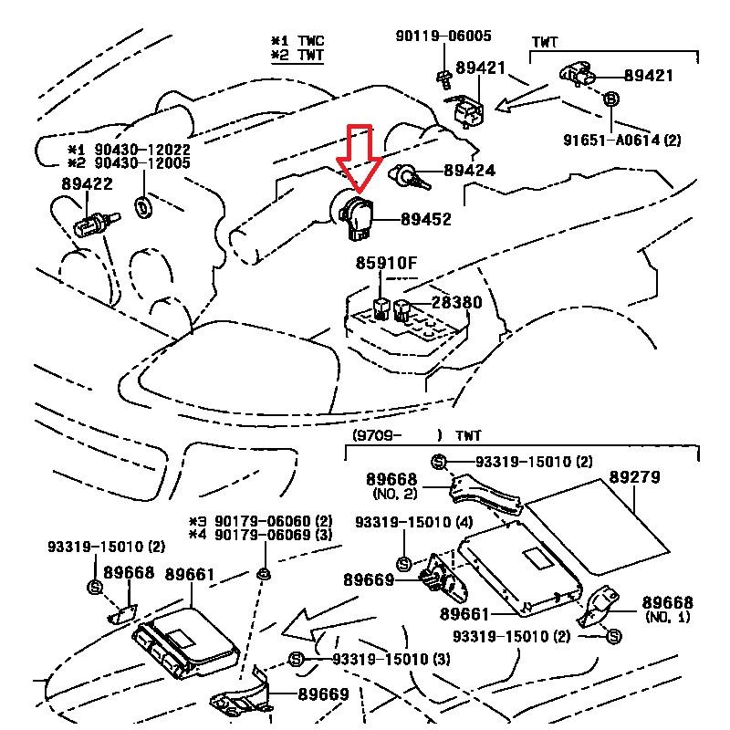 Toyota Supra Mr2 2jz Tps Sensor 89452 30150