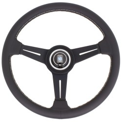 Nardi Classic Steering Wheel - Grey Stitching - 330mm
