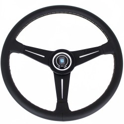 Nardi Classic Steering Wheel - Grey Stitching - 390mm