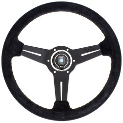 Nardi Classic Lenkrad - Suede with Black Spokes 330-360mm