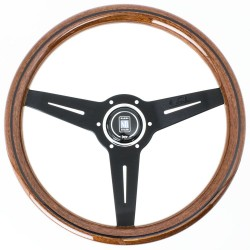 Nardi Classic Steering Wheel - Wood with Black Spokes
