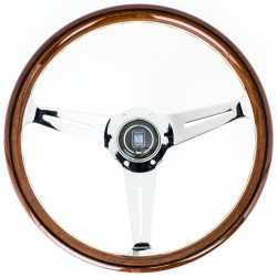 Nardi Classic Steering Wheel - Wood with Polished Spokes