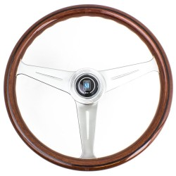 Nardi Classic Steering Wheel - Wood with Satin Spokes