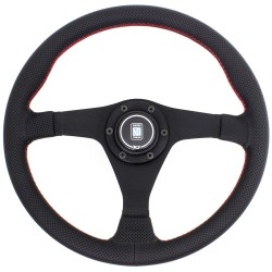 Nardi Gara Steering Wheel - Leather with Black Spokes