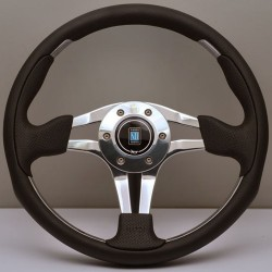Nardi ND4 Steering Wheel - Perforated Leather with Polished Spokes - 350mm
