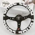 T&E Vertex JDM Steering Wheel - T&E White