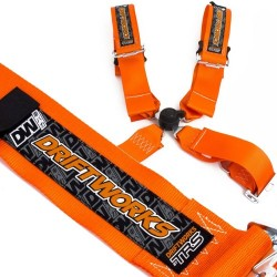 "Orange Driftworks Ultimate 4 point 3"" FIA harness"
