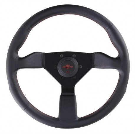 Nardi Personal Neo Grinta Steering Wheel 350mm with Red Stitching and Black Spokes