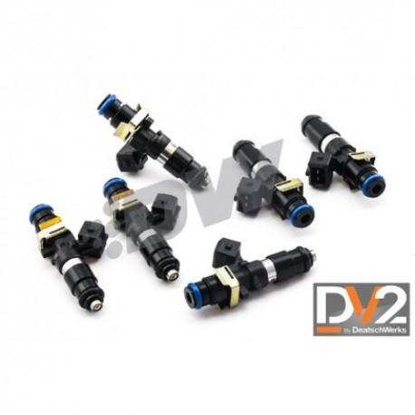 Deatschwerks 1200cc Injector set Supra 2JZ JZA80 11-14mm top feed conversion