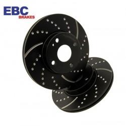 EBC Turbo Groove Black Bremsscheiben Hinten